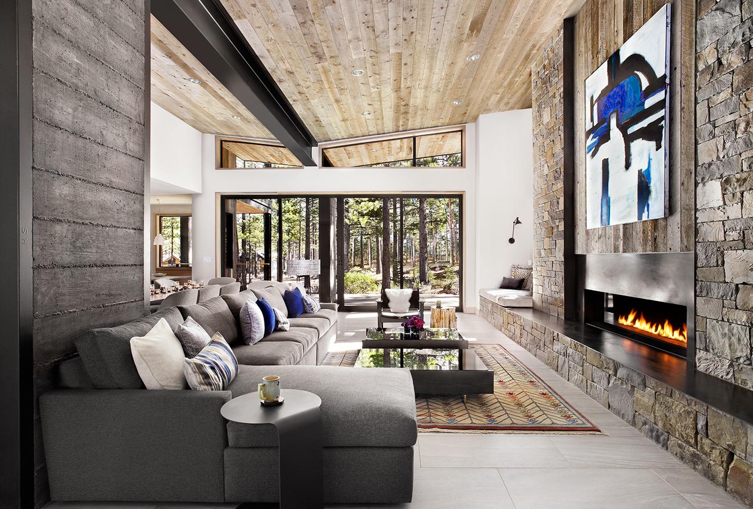 Tahoe Home, Interior Design Kris Foss | Artist: Joanne Fox